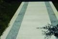 pietra prun bianca con corsie in pietra di luserna